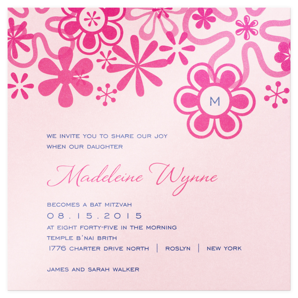 Pop Bat Mitzvah Invitation Custom Wedding Bar Mitzvah and Bat