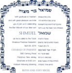 Bar Mitzvah Invitation Hebrew and English
