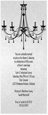 Chandelier Invitations without Crystal