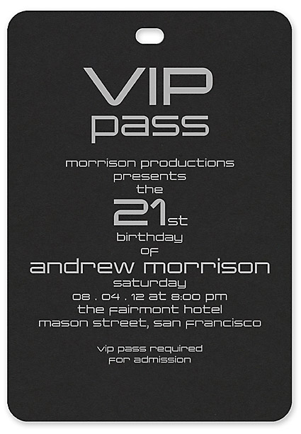 Vip pass bar and bat mitzvah invitation custom wedding bar vip pass unassembled invitations unassembled stopboris Image collections