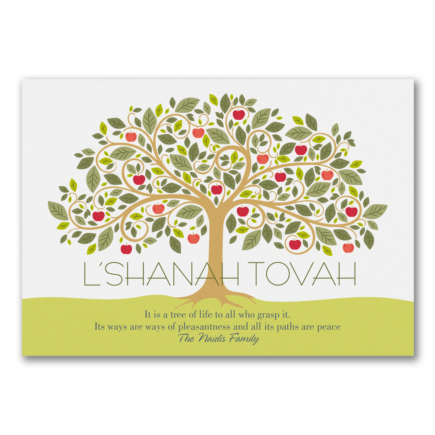 A Sweet New Year - Jewish New Year Card