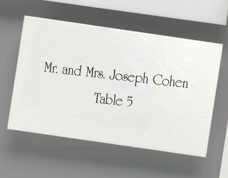digital printed place cards - Printed Place Cards