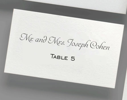 Digital Printed Place Cards
