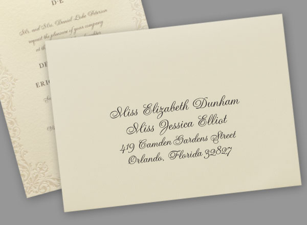 Addressing envelopes custom wedding bar mitzvah and bat mitzvah addressing envelopes altavistaventures Choice Image