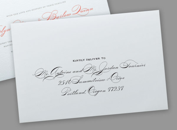 digital calligraphy for envelopes