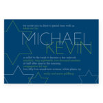 Bold Star of David Bar Mitzvah Invitation