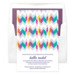 Sparkling Stripes Invitations