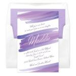 Sunset Wash Bat Mitzvah Invitations