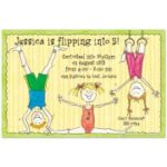 Gymnastics Invitation - Printable Party Invitations