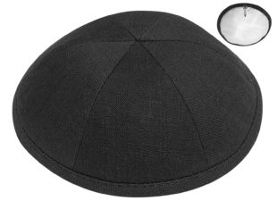 Black – European Linen Kippah