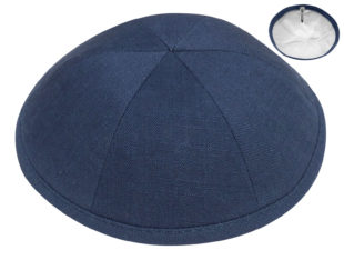 Navy Blue – European Linen Kippah