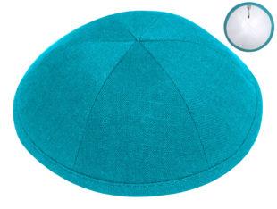 Turquoise Blue – European Linen Kippah