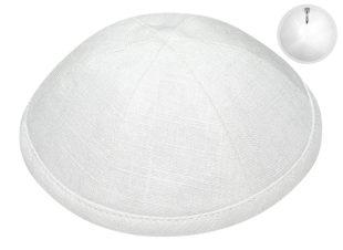 White – European Linen Kippah