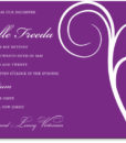 Vintage in Purple - Bat Mitzvah Invitation