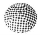 Black Gingham Checks - Fabric Shirt Kippah