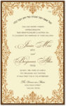 Brocade Copper - Wedding Invitation