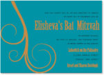 Ocean and Gold Vintage - Bat Mitzvah Invitation
