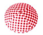 Red Gingham Checks - Fabric Shirt Kippah