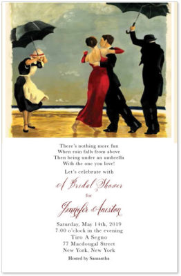 Dancing-with-the-star-bridal shower invite
