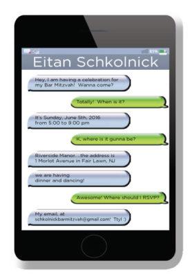 Cell Phone Text Invitations – Bar Mitzvah Invitation