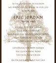 Rustic Tree of Life - Bar Mitzvah Invitation