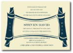 Contemporary Torah Scroll - Bar Mitzvah Invitation