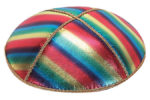 Rainbow Leather Kippah
