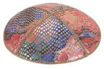 Collage Leather Kippah