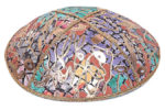 Scribbles Leather Kippah