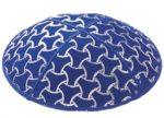 Blue Foil Wheels Embossed - Kippah