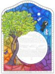 2-gether Stained Glass Male – Ketubah