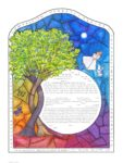 2-gether Stained Glass Female – Ketubah