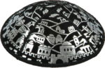 Foil Embossed Jerusalem - Kippah