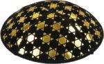 Gold Foil Star of David Embossed - Kippah
