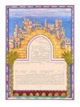 Cityscape of Jerusalem - Ketubah
