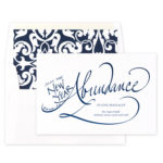 Abundance - Jewish New Year Card 2