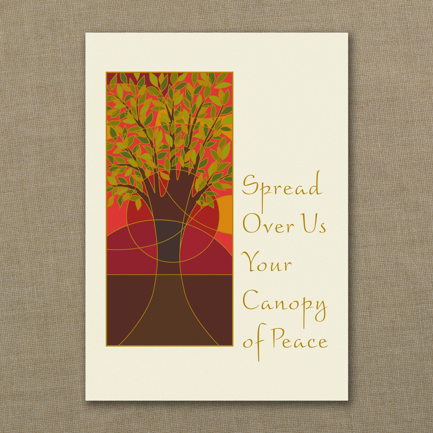 Canopy Of Peace Jewish New Year Card Custom Wedding Bar Mitzvah
