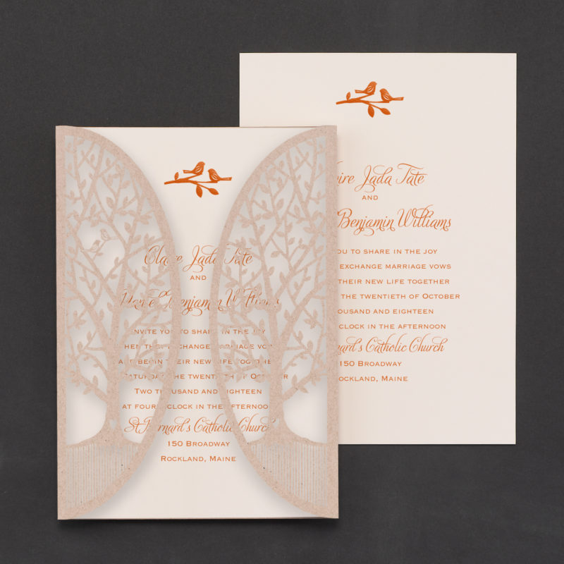 Enchanted Garden Wedding Invitation Custom Wedding Invitation