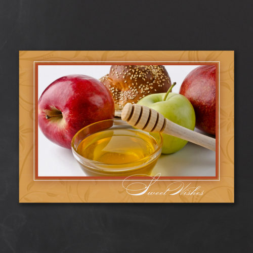 Honey & Apples – Jewish New Year Card – Custom Wedding ...