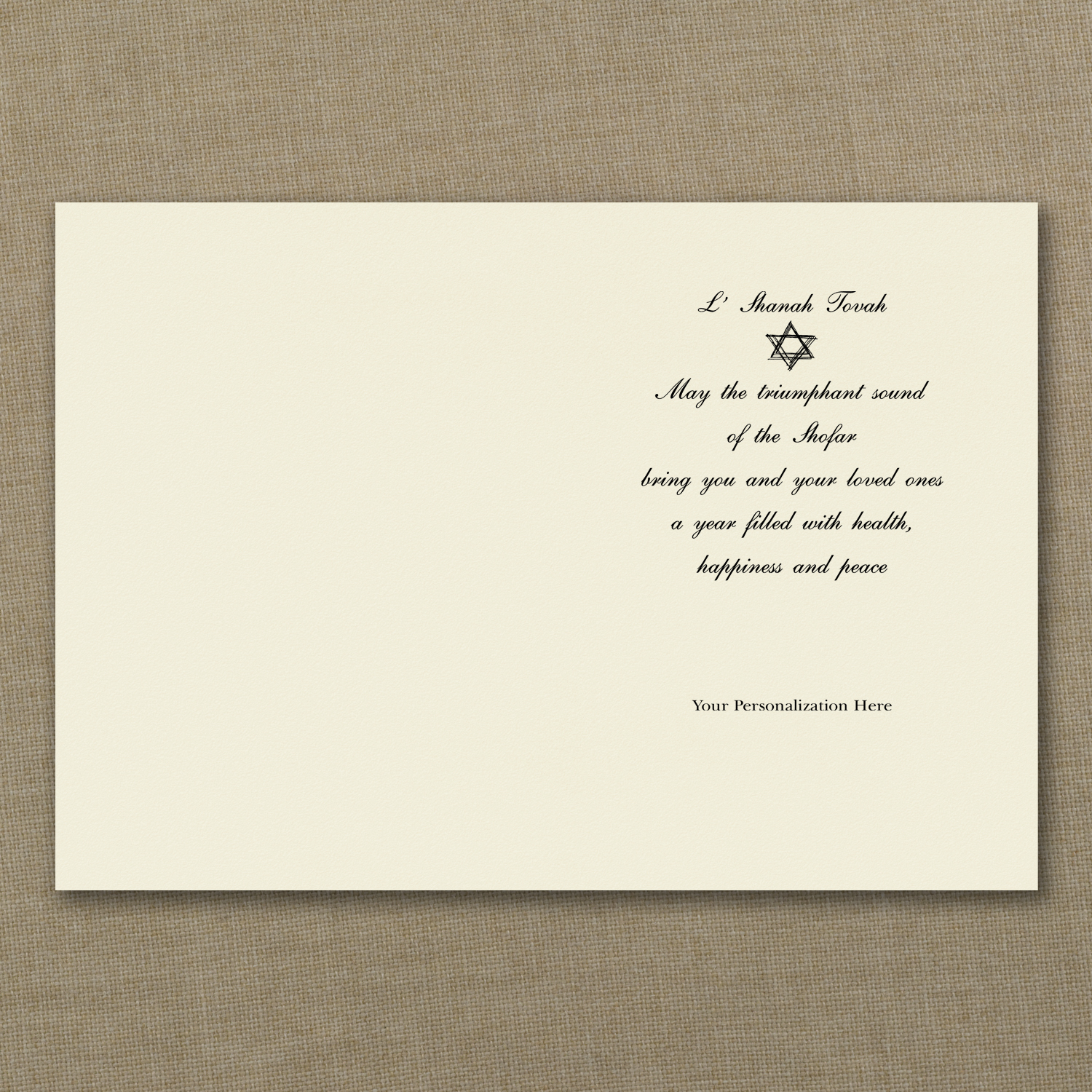 peaceful new year jewish new year card