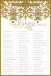 Vintage Border - Table Plan Seating Chart Scroll