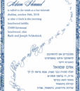 Border of Jerusalem - Bar Mitzvah Invitation