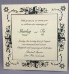 Jerusalem Border - Wedding Invitation