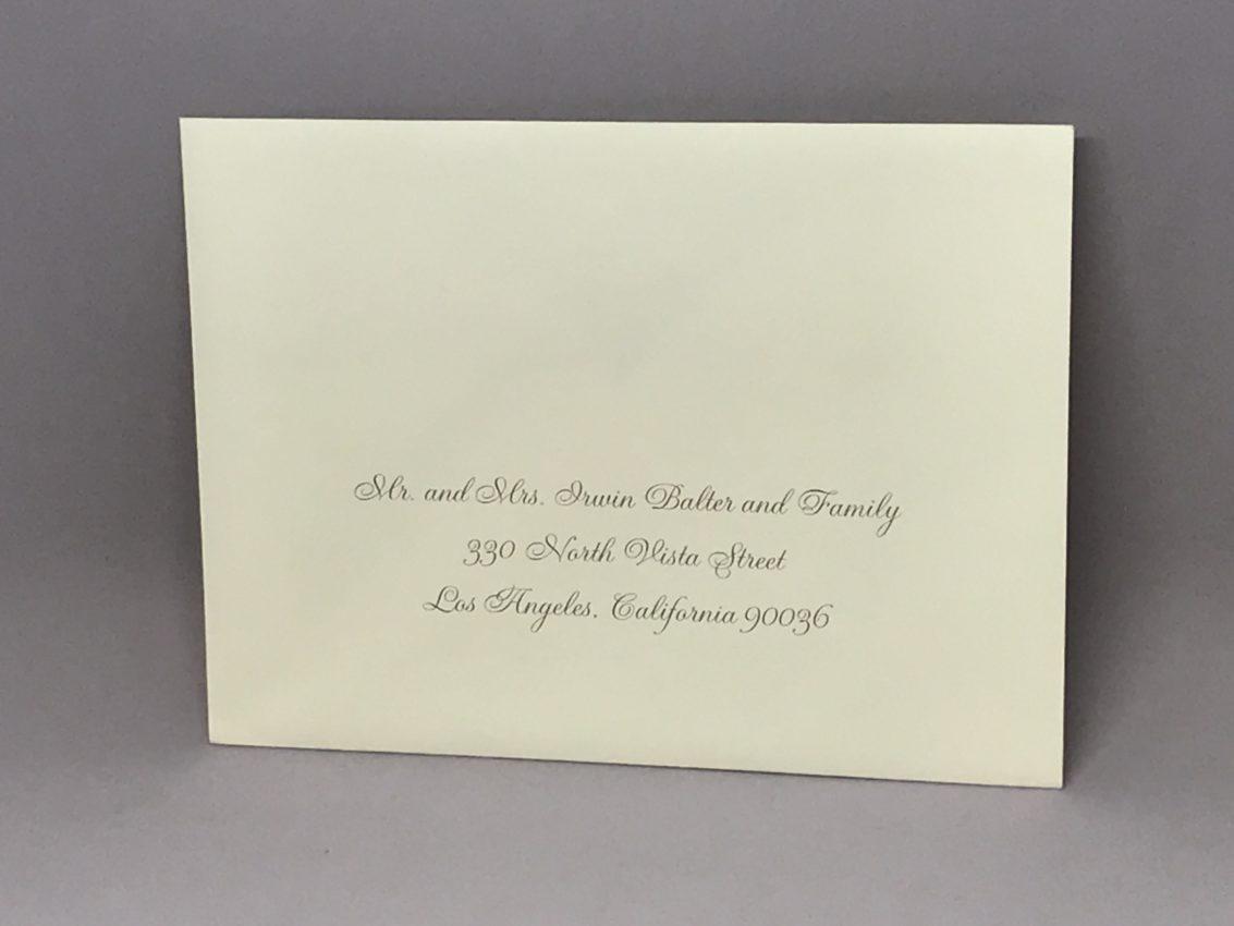 Envelope Addressing Digital Calligraphy – Font Gruva – Custom ...