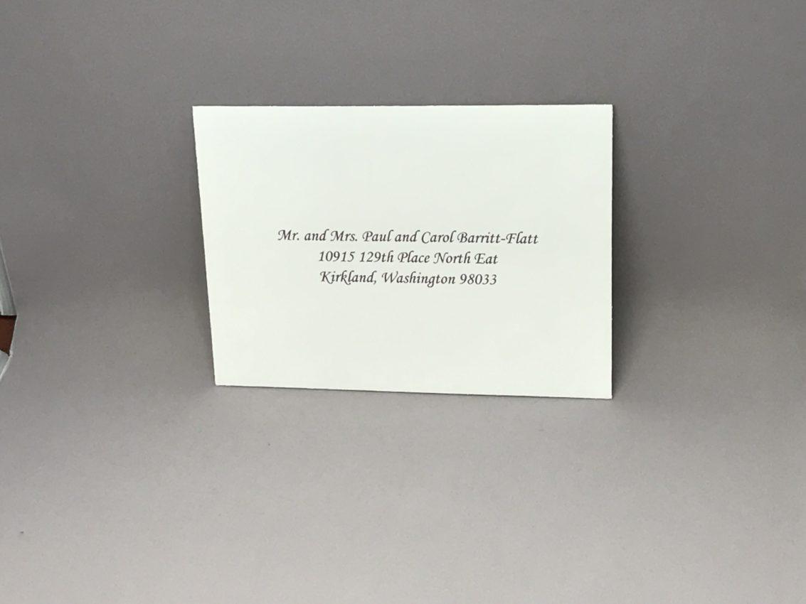 Envelope Addressing Digital Calligraphy Font Monotype