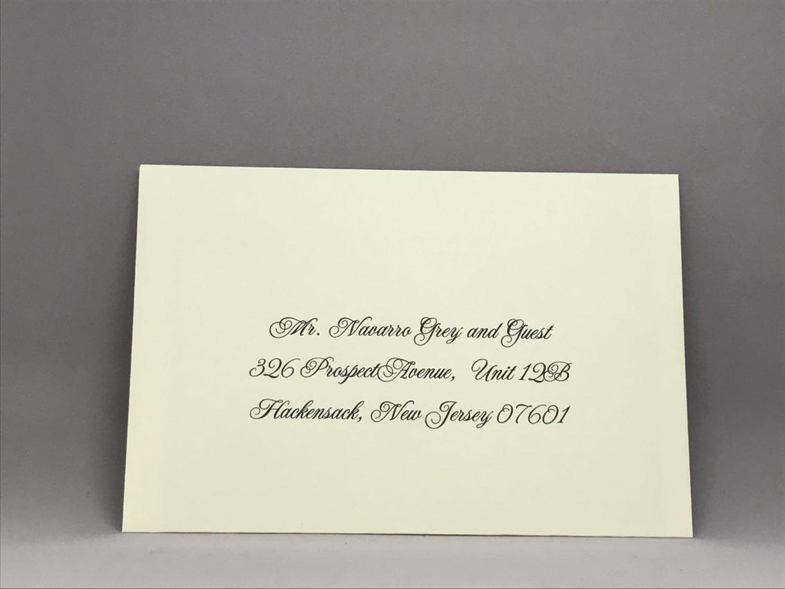 Envelope Addressing Digital Calligraphy - Font Jackie