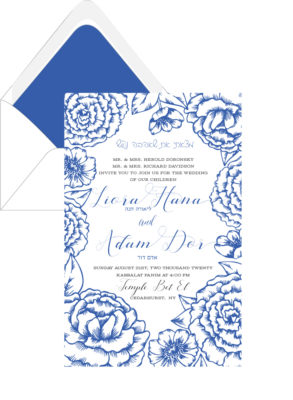 Vintage Roses – Wedding Invitation