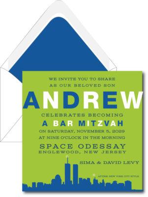 New York City Skylight – Bar Mitzvah Invitation