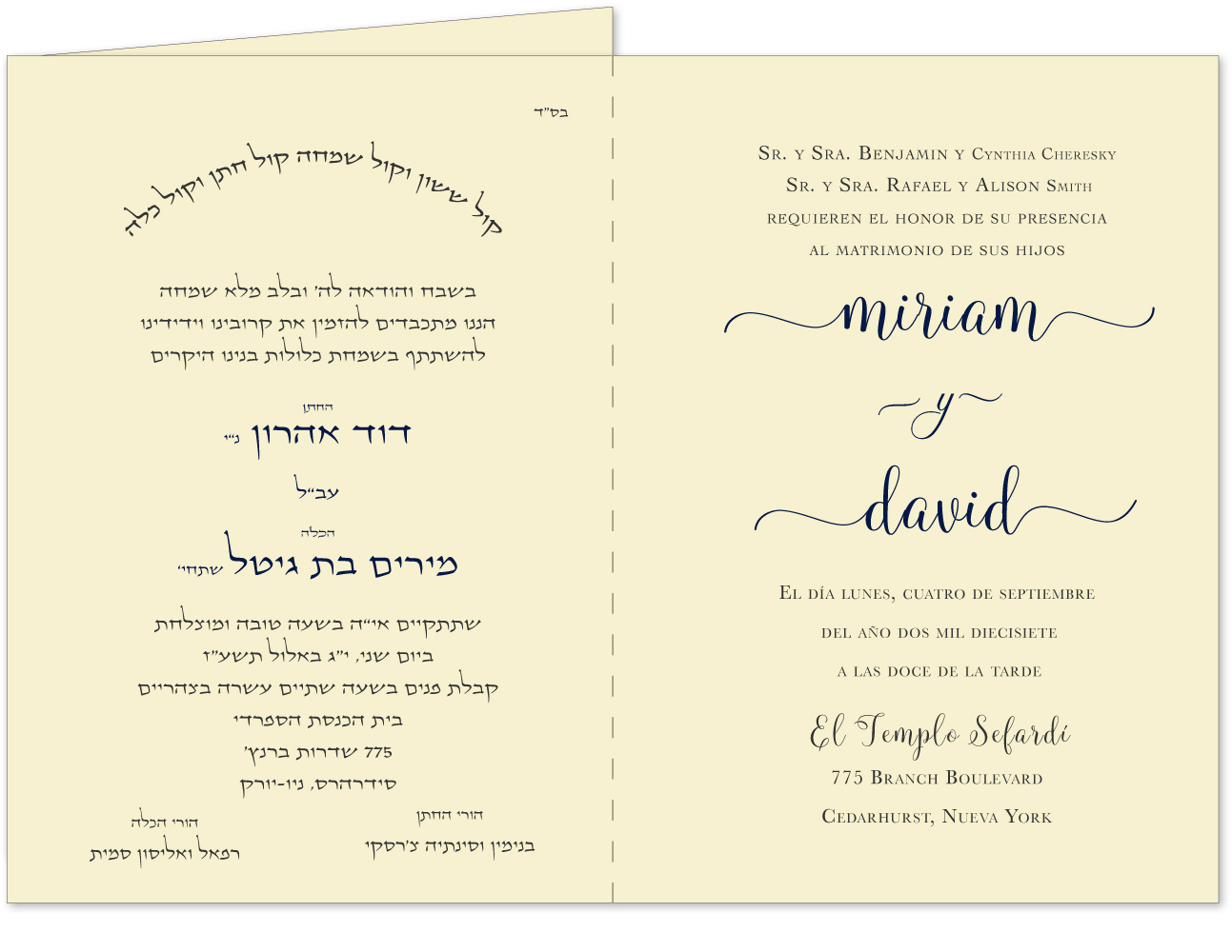 I Am My Beloved Bilingual Wedding Invitation Page 2 3
