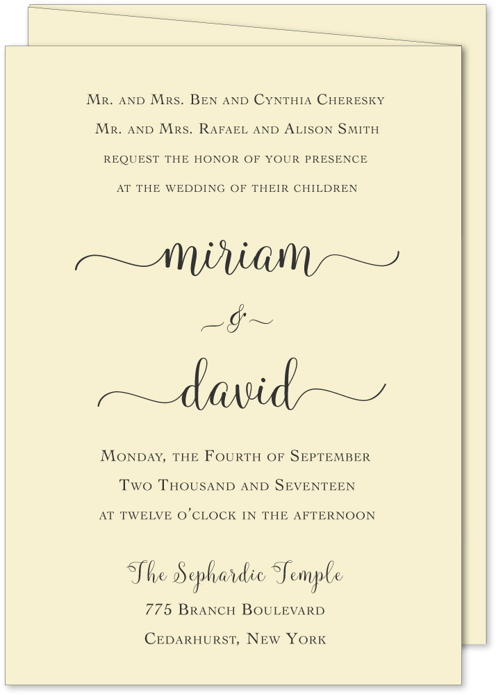 I am my beloved Bilingual TriFold Wedding Invitation Custom